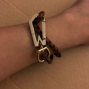 Marc Jacobs gold/brown leather bracelet